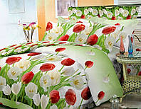 Тюльпаны, поплин (Полуторный)