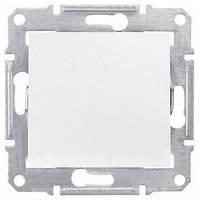Одноклавишный перекрестный переключатель 10 A серии Sedna. Цвет Белый SDN0500121