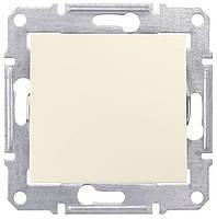 Одноклавишный перекрестный переключатель 10 A серии Sedna. Цвет Слоновая кость SDN0500123