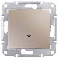 Кнопочный выключатель с символом «звонок» 10A серии Sedna. Цвет Титан SDN0800168