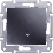 Кнопочный выключатель с символом «звонок» 10A серии Sedna. Цвет Графит SDN0800170