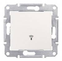 Кнопочный выключатель с символом «звонок» 10A IP44 серии Sedna. Цвет Слоновая кость SDN0800323