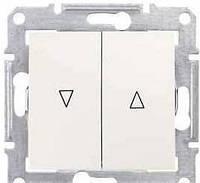 Выключатель для жалюзи с электрической блокировкой 10A серии Sedna. Цвет Слоновая кость SDN1300123