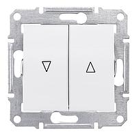 Выключатель для жалюзи с электрической блокировкой 10A серии Sedna. Цвет Белый SDN1300121