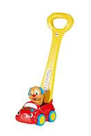 Fisher-Price Игрушка-каталка Смейся и учись Щенок на машине с технологией Smart Stages Laugh & Learn Puppy's Smart Stages Push Car