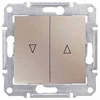 Выключатель для жалюзи с электрической блокировкой 10A серии Sedna. Цвет Титан SDN1300168