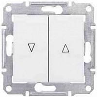 Выключатель для жалюзи с механич. блокировкой 10A серии Sedna. Цвет Белый SDN1300321