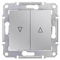 Выключатель для жалюзи с механич. блокировкой 10A серии Sedna. Цвет Алюминий SDN1300360