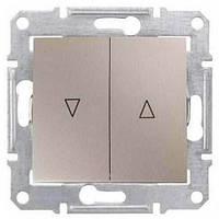 Выключатель для жалюзи с механич. блокировкой 10A серии Sedna. Цвет Титан SDN1300368