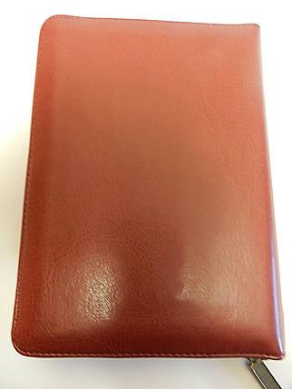 """Біблія, 13х18 см, коричнева з вставкою """"вишивка"""", з замком, з індексами, фото 2"""