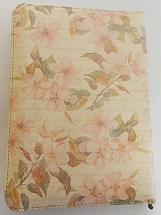 """Біблія, 13х18 см, обкладинка """"весняний цвіт"""", з замком, з індексами, фото 2"""
