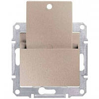 Карточный выключатель 10A серии Sedna. Цвет Титан SDN1900168