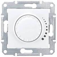 Светорегулятор поворотно-нажимной проходной 60-500 Вт/ВА серии Sedna. Цвет Белый SDN2200521