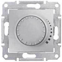 Светорегулятор поворотно-нажимной проходной 60-500 Вт/ВА серии Sedna. Цвет Алюминий SDN2200560