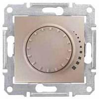 Светорегулятор поворотно-нажимной проходной 60-500 Вт/ВА серии Sedna. Цвет Титан SDN2200568