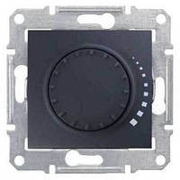 Светорегулятор поворотно-нажимной проходной 60-500 Вт/ВА серии Sedna. Цвет Графит SDN2200570