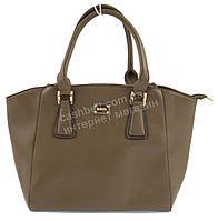 eb8409375249 Большая каркасная стильная прочная женская сумка KISS ME art. A-118 кофе с  молоком