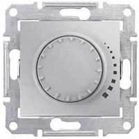 Светорегулятор поворотно-нажимной проходной 25-325 Вт/ВА серии Sedna. Цвет Алюминий SDN2200760