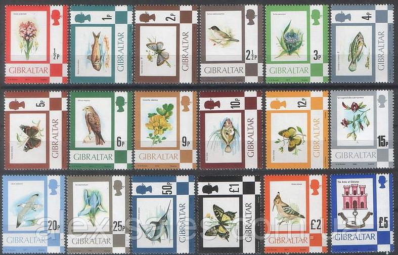 Gibraltar Гибралтар фауна 1977 SG# 374 - 389A MNH