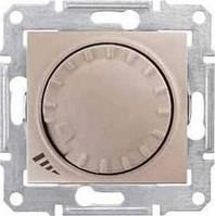Диммер универсальный поворотно-нажимной серии Sedna Цвет Титан SDN2201168