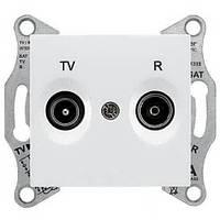 Розетка TV/R проходная 8 dB Sedna. Цвет Белый SDN3301321