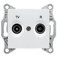 Розетка TV/R концевая 1 dB Sedna. Цвет Белый SDN3301621