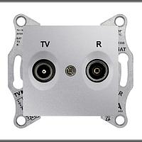 Розетка TV/R проходная 4 dB Sedna. Цвет Алюминий SDN3301860