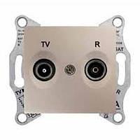 Розетка TV/R проходная 4 dB Sedna. Цвет Титан SDN3301868