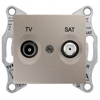 Розетка ТV/SAT проходная 8 dB Sedna. Цвет Титан SDN3401268