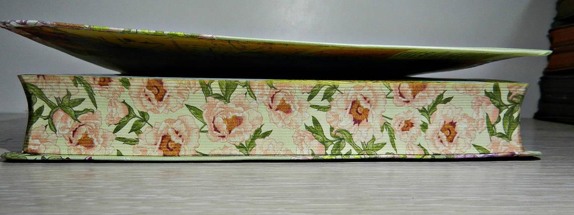 Библия, 14х20,5 см, салатовая в цветах, фото 2