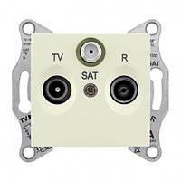 Розетка TV/R/SAT проходная 8 dB Sedna. Цвет Слоновая кость SDN3501223