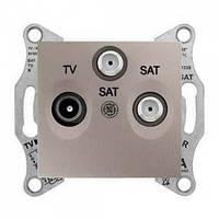 Розетка TV/R/SAT концевая 1 dB Sedna. Цвет Титан SDN3501368