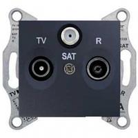 Розетка TV/R/SAT проходная 8 dB Sedna. Цвет Графит SDN3501270