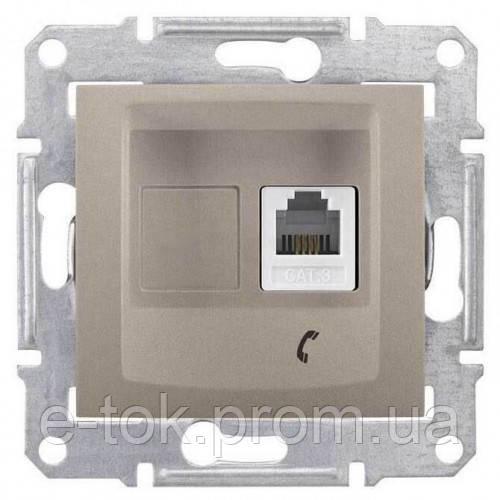 Телефонная розетка RJ11 Sedna. Цвет Титан SDN4101168 -  Е-ТОК интернет-магазин электрооборудования в Одессе