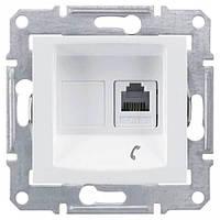Телефонная розетка RJ11 Sedna. Цвет Белый SDN4101121