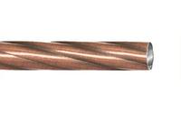 Труба витая 1,6 м. для кованого карниза 16 мм античная медь
