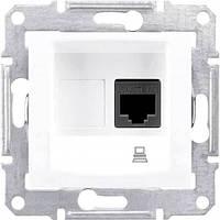 Компьютерная розетка UTP RJ45 кат.5e неэкранированная Sedna. Цвет Белый SDN4300121