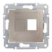 Адаптер для коннекторов 1М AMP MOL КАТ5Е 6 UTP. Sedna Цвет Титан SDN4300668