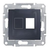 Адаптер для коннекторов 1М AMP MOL КАТ5Е 6 UTP. Sedna Цвет Графит SDN4300670