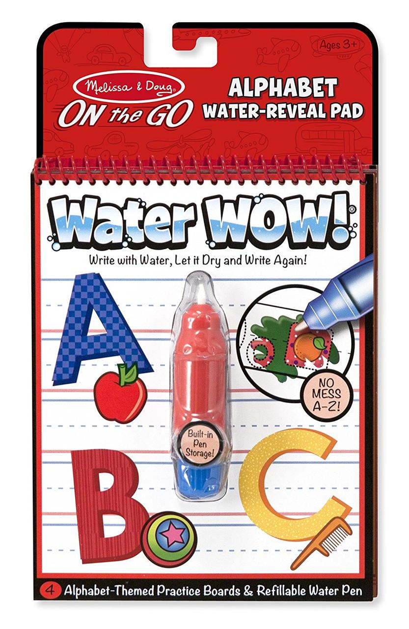 Волшебная многоразовая водная раскраска изучаем Алфавит MD5389 Melissa&Doug  Water Wow