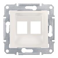 Адаптер для коннекторов 2МОД AMP MOL КАТ5Е 6UTP. Sedna Цвет Слоновая кость SDN4400623