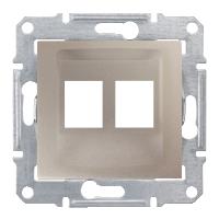 Адаптер для коннекторов 2МОД AMP MOL КАТ5Е 6UTP. Sedna Цвет Титан SDN4400668