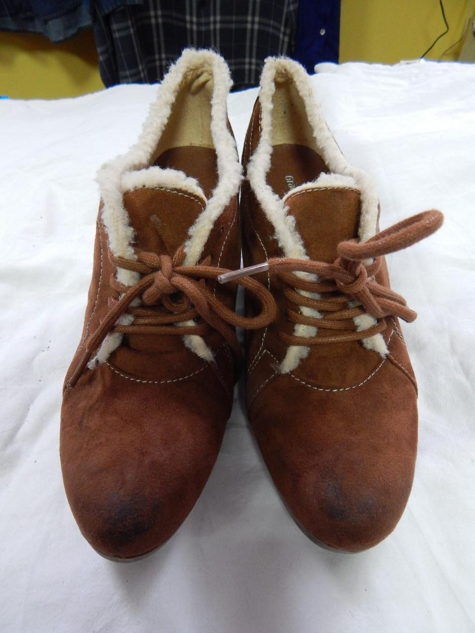 Женские демисезонные ботинки Graceland р. 41 кожа нубук