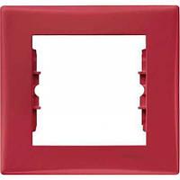 Декоративная рамка 1-постовая Sedna. Цвет Красный SDN5800141