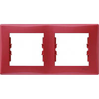 Декоративная рамка 2-постовая горизонтальная Sedna. Цвет Красный SDN5800341