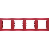 Декоративная рамка 4-постовая горизонтальная Sedna. Цвет Красный SDN5800741