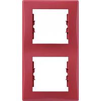 Декоративная рамка 2-постовая вертикальная Sedna. Цвет Красный SDN5801141