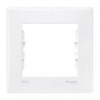 Рамка 1-постовая выключатель-IP44, розетка-IP20. серии Sedna Цвет Белый  SDN5810121