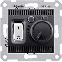 Комнатный термостат 10А серии Sedna. Цвет Графит SDN6000170