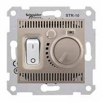 Комнатный термостат 10А серии Sedna. Цвет Титан SDN6000168